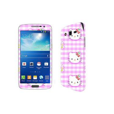 Snooky 39452 Digital Print Mobile Skin Sticker For Samsung Galaxy Grand 2 G7102 - Pink