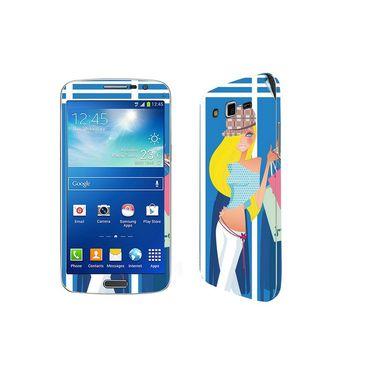 Snooky 39455 Digital Print Mobile Skin Sticker For Samsung Galaxy Grand 2 G7102 - Blue