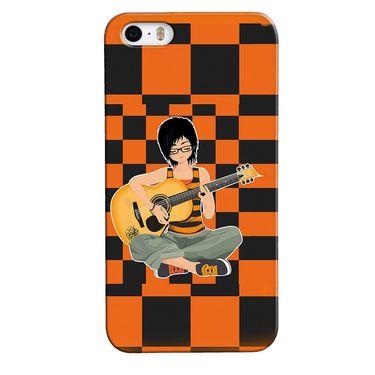 Snooky 35096 Digital Print Hard Back Case Cover For Apple iPhone 4s   - Black