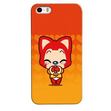Snooky 35130 Digital Print Hard Back Case Cover For Apple iPhone 4s   - Orange