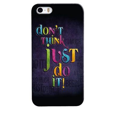 Snooky 35160 Digital Print Hard Back Case Cover For Apple iPhone 5s - Black
