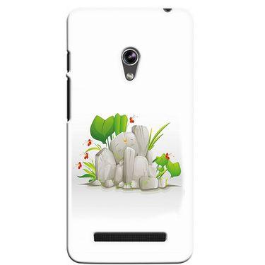 Snooky 36135 Digital Print Hard Back Case Cover For Asus Zenphone 5 - White