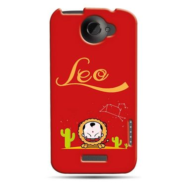 Snooky 37231 Digital Print Hard Back Case Cover For HTC ONE X S720E - Red