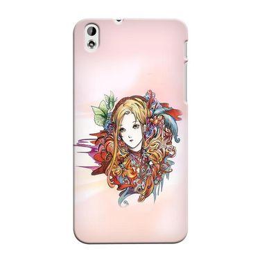 Snooky 37308 Digital Print Hard Back Case Cover For HTC Desire 816 - Multicolour