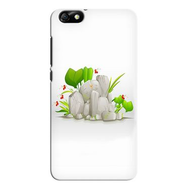 Snooky 37355 Digital Print Hard Back Case Cover For huawei honor 4x - White
