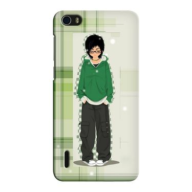Snooky 37425 Digital Print Hard Back Case Cover For huawei honor 6 - Green