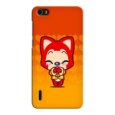 Snooky 37461 Digital Print Hard Back Case Cover For huawei honor 6 - Orange