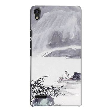 Snooky 38265 Digital Print Hard Back Case Cover For Huawei Ascend P6 - Grey
