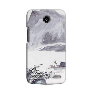 Snooky 38515 Digital Print Hard Back Case Cover For Lenovo A820 - Grey