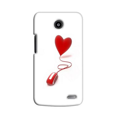 Snooky 38552 Digital Print Hard Back Case Cover For Lenovo A820 - White