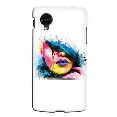 Snooky 35983 Digital Print Hard Back Case Cover For LG Google Nexus 5 - White