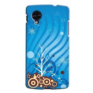 Snooky 35992 Digital Print Hard Back Case Cover For LG Google Nexus 5 - Blue