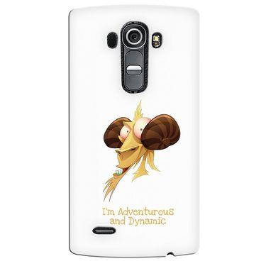 Snooky 37948 Digital Print Hard Back Case Cover For LG G4 - White