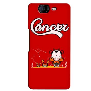 Snooky 35401 Digital Print Hard Back Case Cover For Micromax Canvas Knight A350 - Red