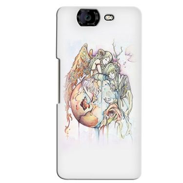 Snooky 35425 Digital Print Hard Back Case Cover For Micromax Canvas Knight A350 - Multicolour
