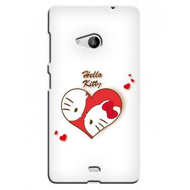 Snooky 38050 Digital Print Hard Back Case Cover For Microsoft Lumia 535 - White