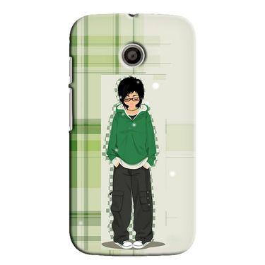 Snooky 35805 Digital Print Hard Back Case Cover For Motorola Moto E - Green