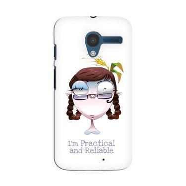 Snooky 35876 Digital Print Hard Back Case Cover For Motorola Moto X - White