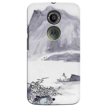 Snooky 35895 Digital Print Hard Back Case Cover For Motorola Moto X2 - Grey