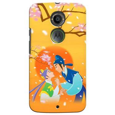Snooky 35898 Digital Print Hard Back Case Cover For Motorola Moto X2 - Orange