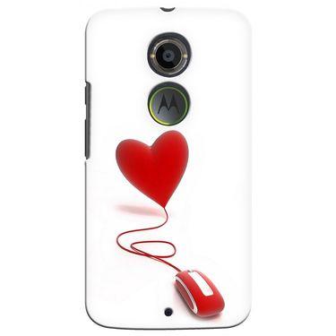 Snooky 35932 Digital Print Hard Back Case Cover For Motorola Moto X2 - White