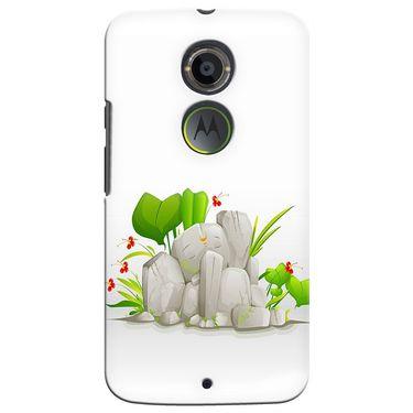 Snooky 35935 Digital Print Hard Back Case Cover For Motorola Moto X2 - White