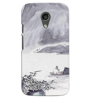 Snooky 38615 Digital Print Hard Back Case Cover For Motorola Moto G 2nd Gen - Grey