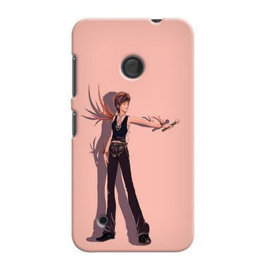 Snooky 37972 Digital Print Hard Back Case Cover For Nokia Lumia 530 - Mehroon
