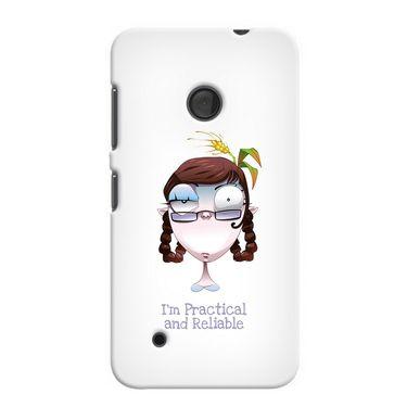 Snooky 37996 Digital Print Hard Back Case Cover For Nokia Lumia 530 - White