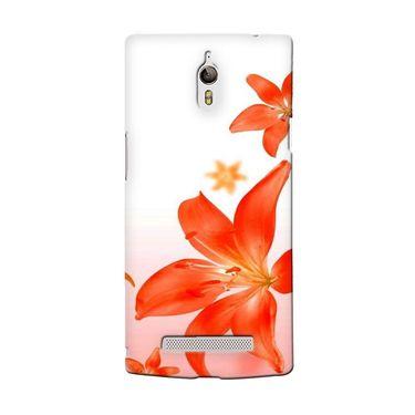 Snooky 36714 Digital Print Hard Back Case Cover For Oppo Find 7 - White