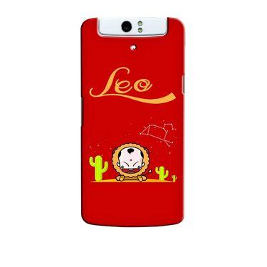 Snooky 36731 Digital Print Hard Back Case Cover For Oppo N1 - Red