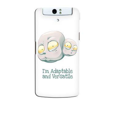 Snooky 36742 Digital Print Hard Back Case Cover For Oppo N1 - White