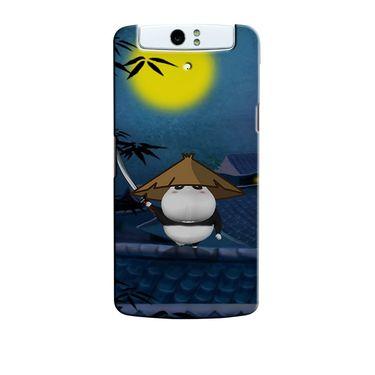 Snooky 36760 Digital Print Hard Back Case Cover For Oppo N1 - Blue