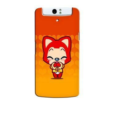 Snooky 36761 Digital Print Hard Back Case Cover For Oppo N1 - Orange