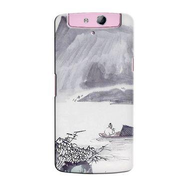 Snooky 36765 Digital Print Hard Back Case Cover For Oppo N1 Mini N5111 - Grey