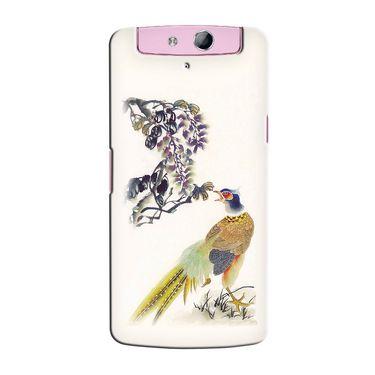 Snooky 36766 Digital Print Hard Back Case Cover For Oppo N1 Mini N5111 - Cream