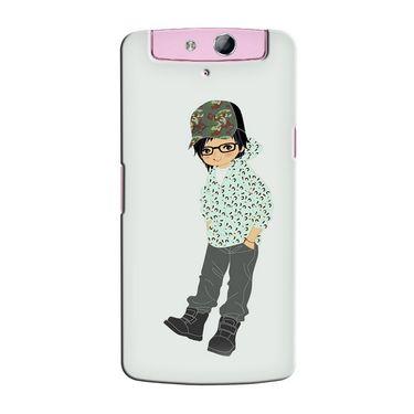 Snooky 36770 Digital Print Hard Back Case Cover For Oppo N1 Mini N5111 - Green