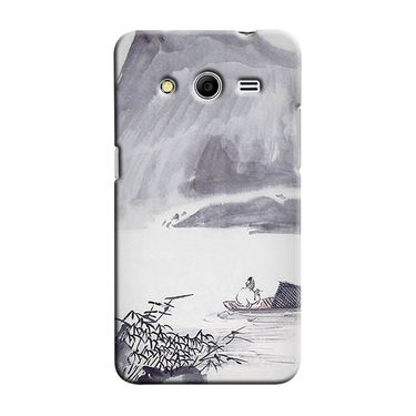 Snooky 35434 Digital Print Hard Back Case Cover For Samsung Galaxy Core 2 - Grey