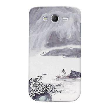 Snooky 35484 Digital Print Hard Back Case Cover For Samsung Galaxy Grand 2 - Grey