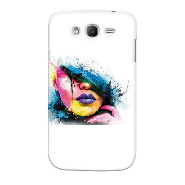 Snooky 35522 Digital Print Hard Back Case Cover For Samsung Galaxy Grand 2 - White