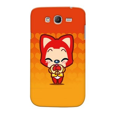 Snooky 35580 Digital Print Hard Back Case Cover For Samsung Galaxy Grand Duos I9082 - Orange