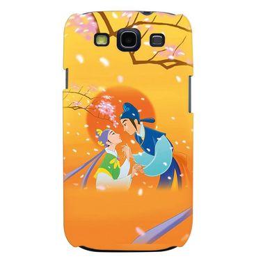 Snooky 35687 Digital Print Hard Back Case Cover For Samsung Galaxy S3 I9300 - Orange