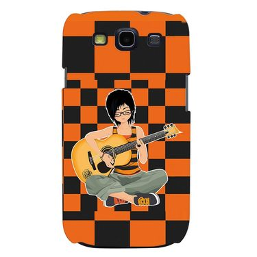 Snooky 35696 Digital Print Hard Back Case Cover For Samsung Galaxy S3 I9300 - Black