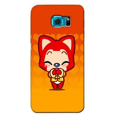 Snooky 36211 Digital Print Hard Back Case Cover For Samsung Galaxy S6 - Orange