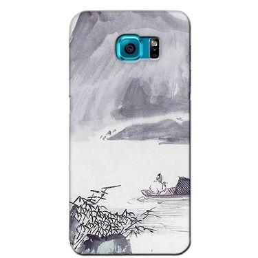 Snooky 36215 Digital Print Hard Back Case Cover For Samsung Galaxy S6 Edge - Grey