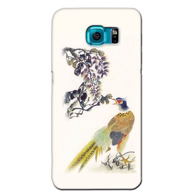 Snooky 36216 Digital Print Hard Back Case Cover For Samsung Galaxy S6 Edge - Cream