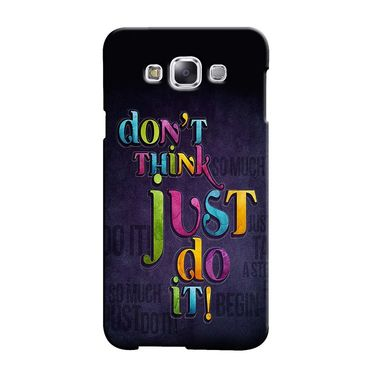 Snooky 36291 Digital Print Hard Back Case Cover For Samsung Galaxy A3 - Black