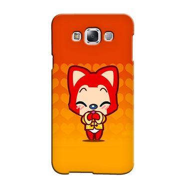 Snooky 36311 Digital Print Hard Back Case Cover For Samsung Galaxy A3 - Orange