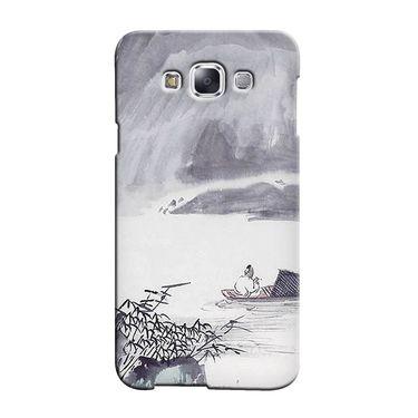 Snooky 36315 Digital Print Hard Back Case Cover For Samsung Galaxy A5 - Grey