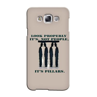 Snooky 36449 Digital Print Hard Back Case Cover For Samsung Galaxy E5 - Cream